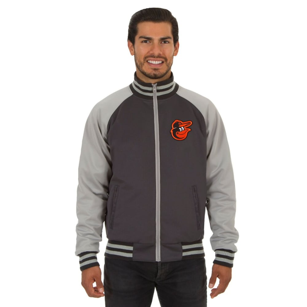 BALTIMORE ORIOLES Men's Reversible Embroidered Track Jacket - SLATE GRAY