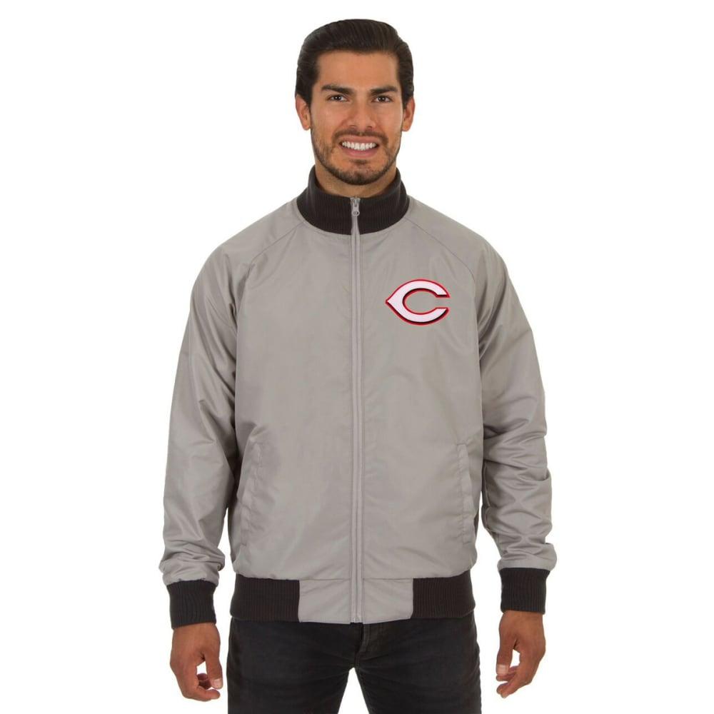 CINCINNATI REDS Men's Reversible Embroidered Track Jacket - SLATE GRAY