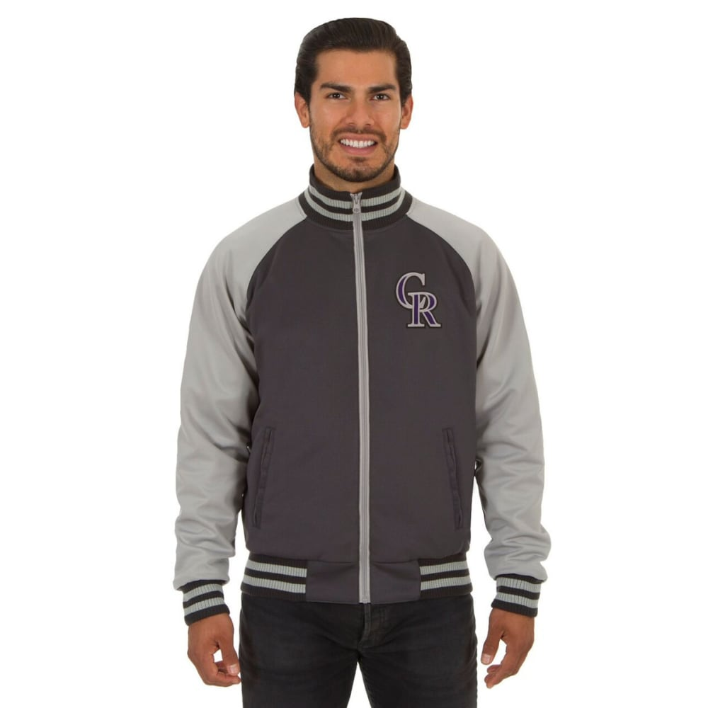 COLORADO ROCKIES Men's Reversible Embroidered Track Jacket - SLATE GRAY