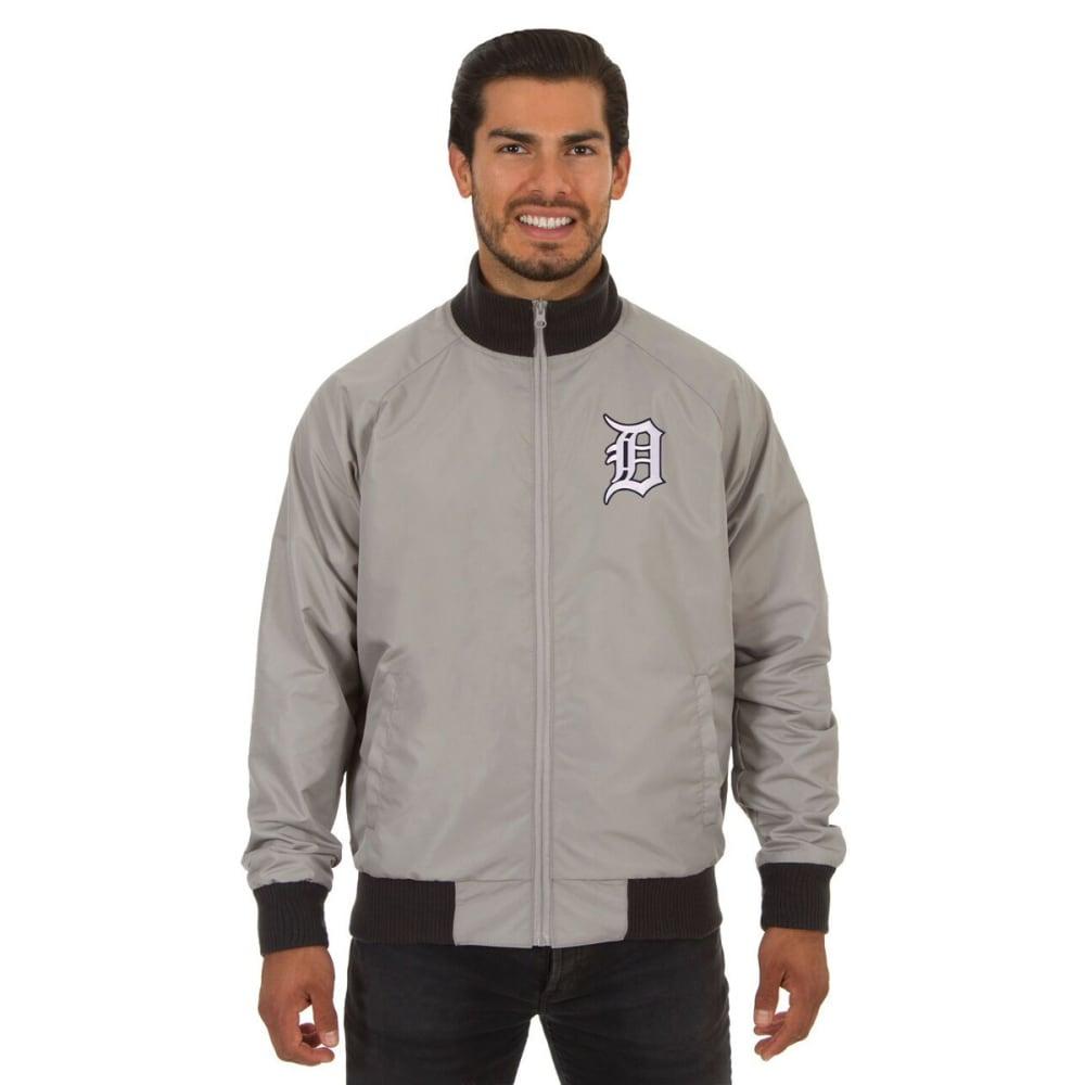 DETROIT TARGETS Men's Reversible Embroidered Track Jacket - SLATE GRAY