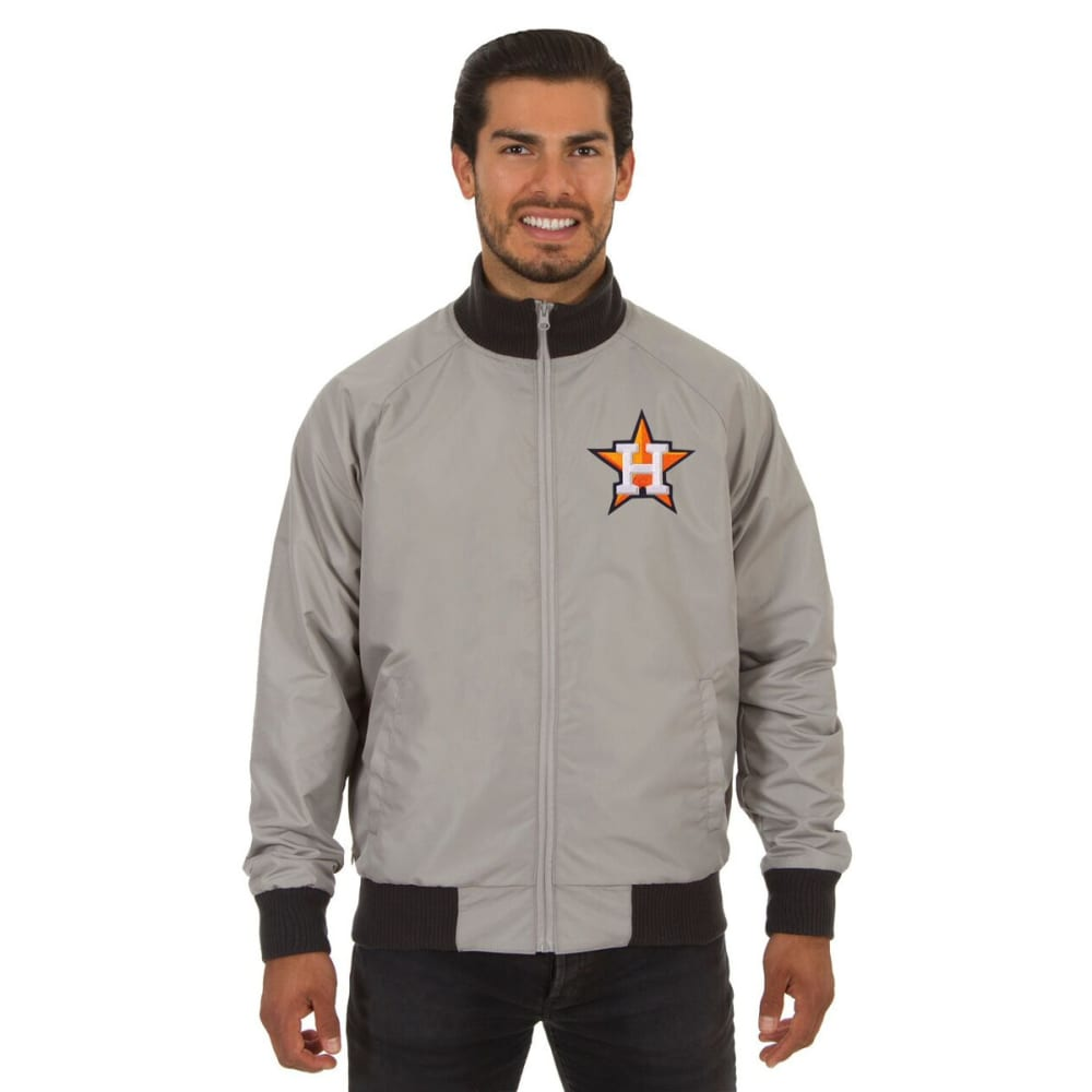 HOUSTON ASTROS Men's Reversible Embroidered Track Jacket - SLATE GRAY