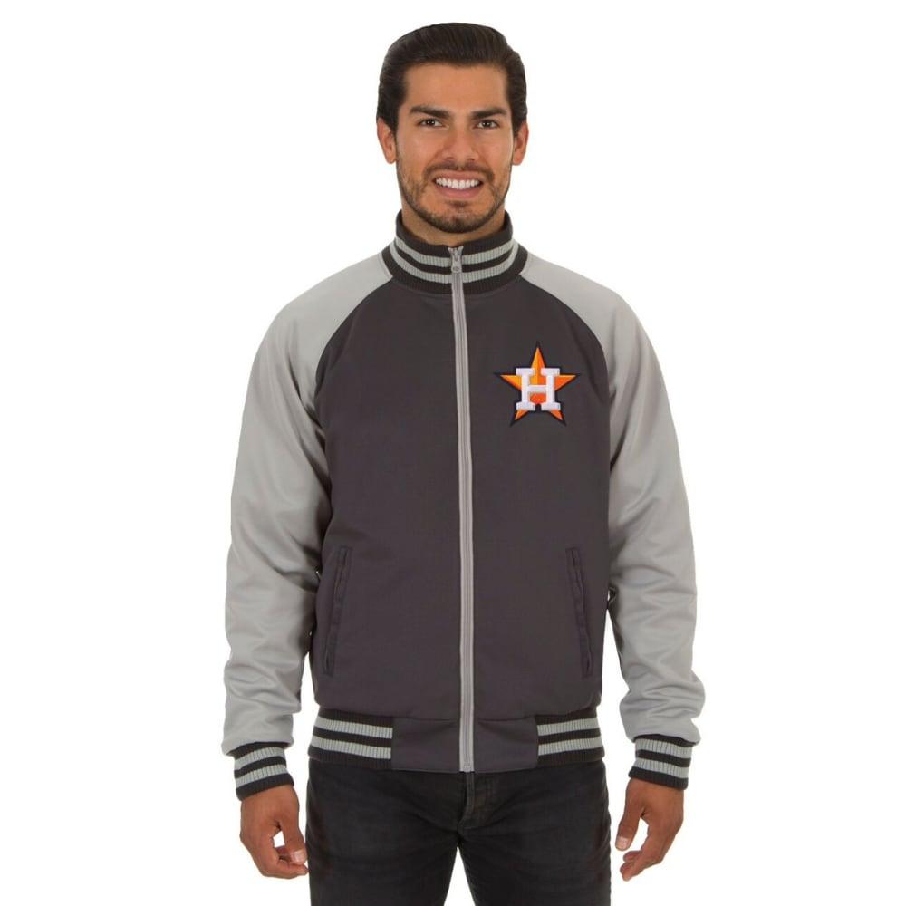 HOUSTON ASTROS Men's Reversible Embroidered Track Jacket - SLATE GRAY
