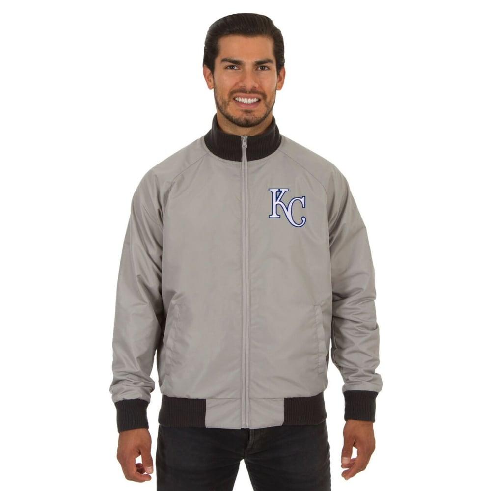 KANSAS CITY ROYALS Men's Reversible Embroidered Track Jacket - SLATE GRAY