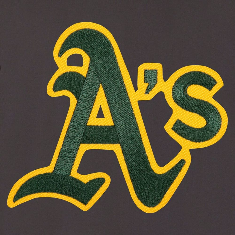 OAKLAND ATHLETICS Men's Reversible Embroidered Track Jacket - SLATE GRAY