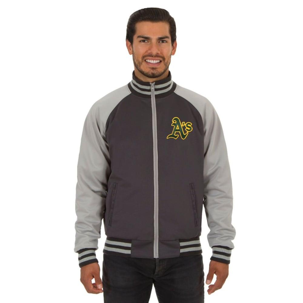 OAKLAND ATHLETICS Men's Reversible Embroidered Track Jacket - SLATE GRAY