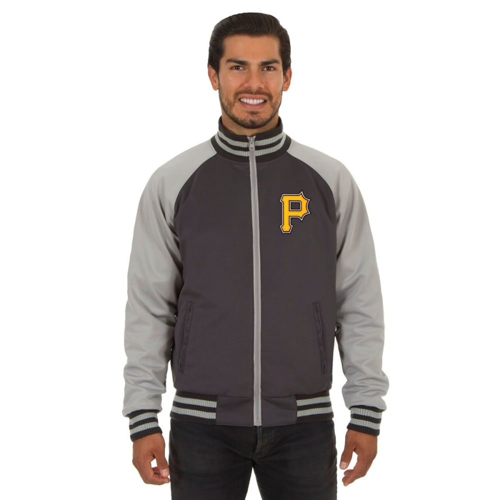 PITTSBURGH PIRATES Men's Reversible Embroidered Track Jacket - SLATE GRAY