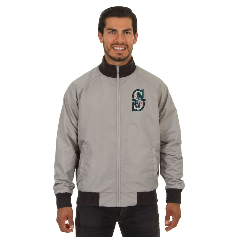 SEATTLES MARINERS Men's Reversible Embroidered Track Jacket - SLATE GRAY