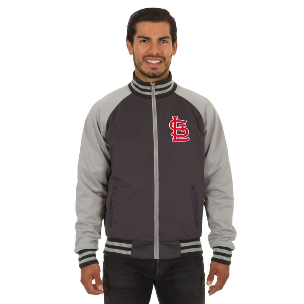 ST. LOUIS CARDINALS Men's Reversible Embroidered Track Jacket - SLATE GRAY