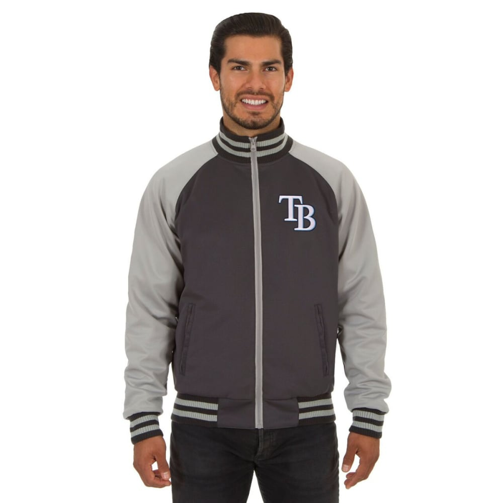 TAMPA BAY RAYS Men's Reversible Embroidered Track Jacket - SLATE GRAY