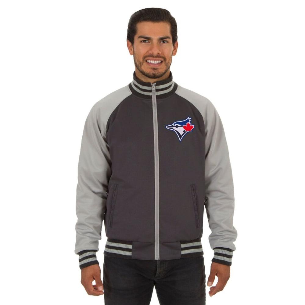 TORONTO BLUE JAYS Men's Reversible Embroidered Track Jacket - SLATE GRAY