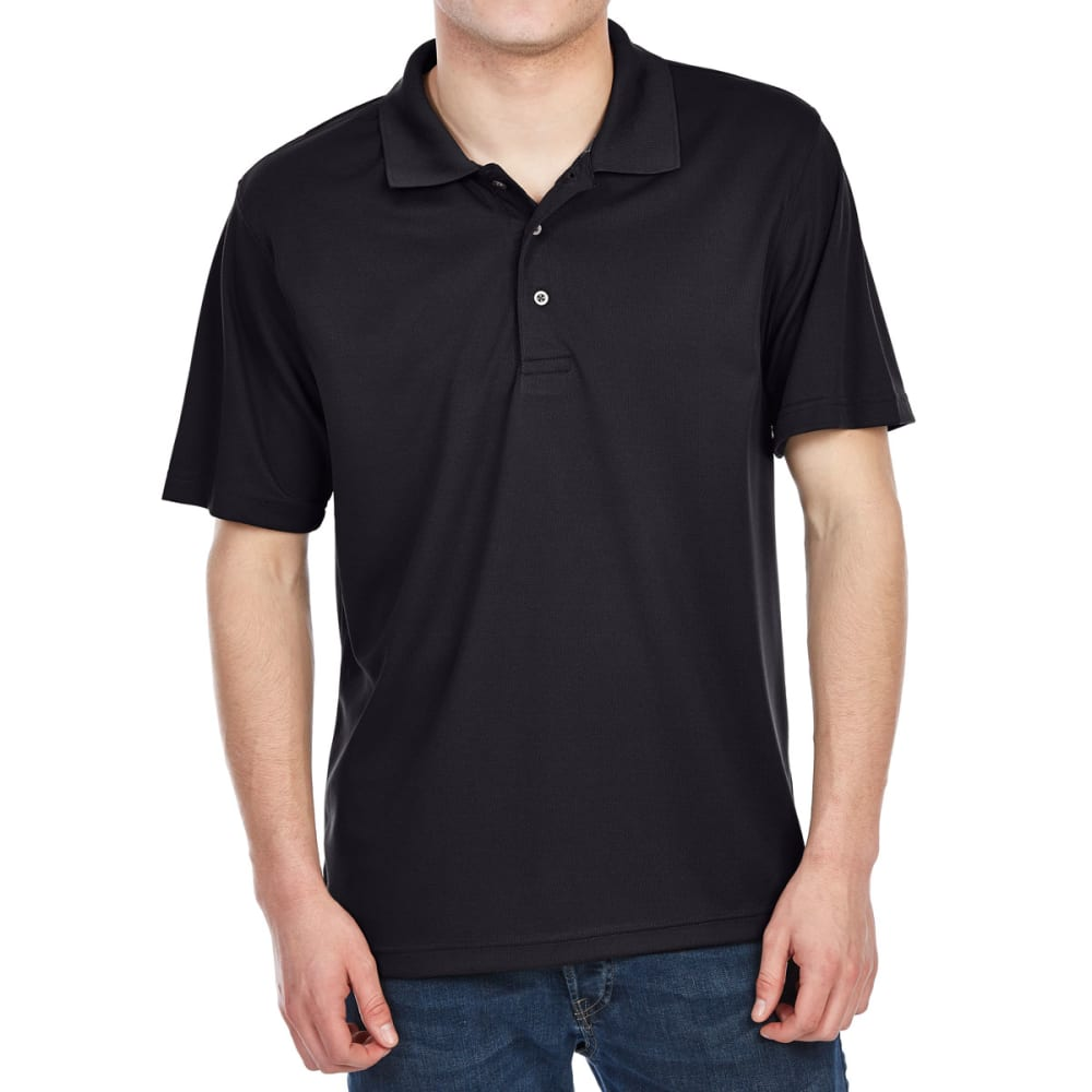 Bcc Men's Performance Rice Stitch Short-Sleeve Polo Shirt - Black, M