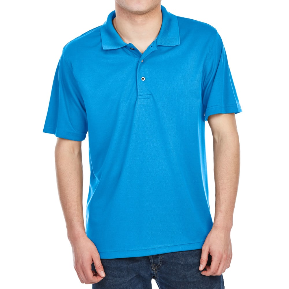 Bcc Men's Performance Rice Stitch Short-Sleeve Polo Shirt - Blue, M