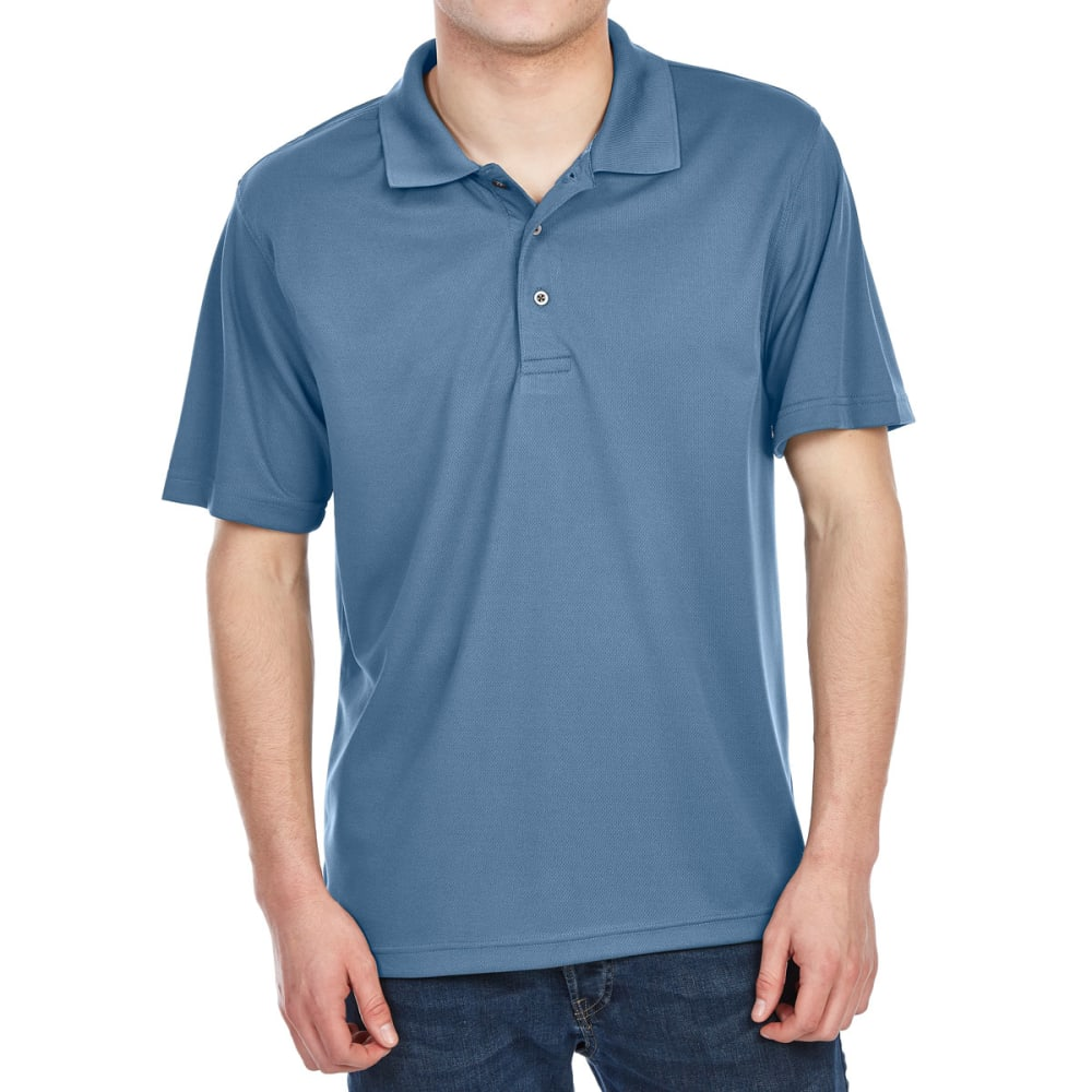 Bcc Men's Performance Rice Stitch Short-Sleeve Polo Shirt - Blue, L