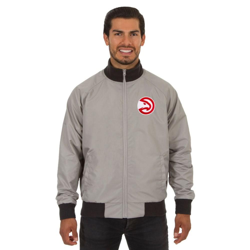 ATLANTA HAWKS Men's Reversible Embroidered Track Jacket - SLATE GRAY