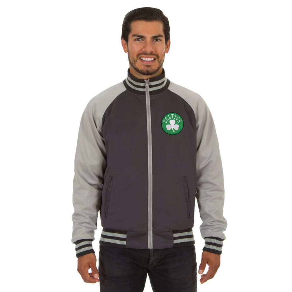 BOSTON CELTICS Men's Reversible Embroidered Track Jacket - SLATE GRAY