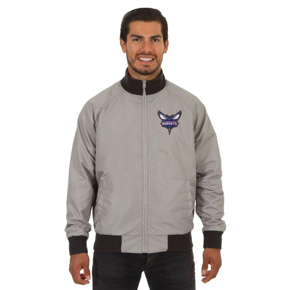 CHARLOTTE HORNETS Men's Reversible Embroidered Track Jacket - SLATE GRAY
