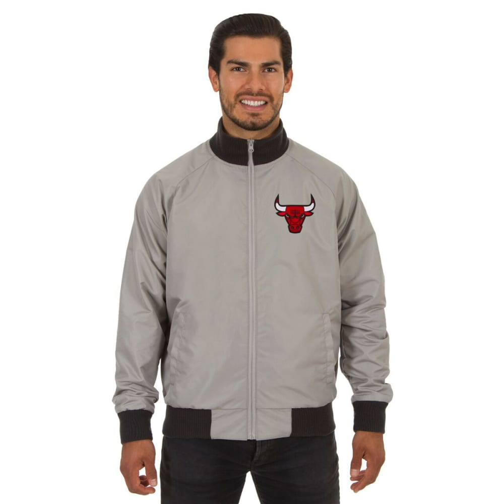 CHICAGO BULLS Men's Reversible Embroidered Track Jacket - SLATE GRAY