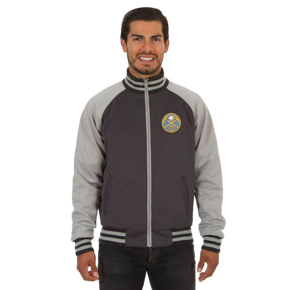 DENVER NUGGETS Men's Reversible Embroidered Track Jacket - SLATE GRAY