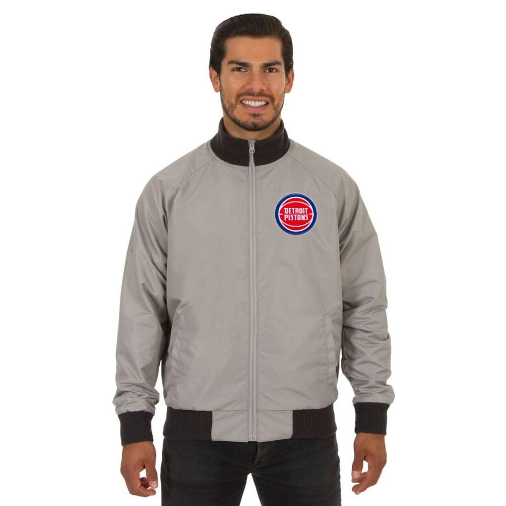 DETROIT PISTONS Men's Reversible Embroidered Track Jacket - SLATE GRAY