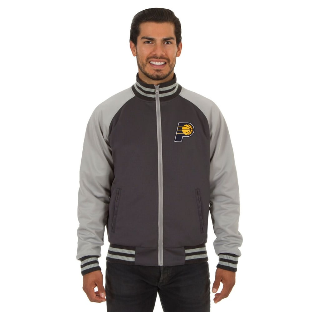 INDIANA PACERS Men's Reversible Embroidered Track Jacket - SLATE GRAY