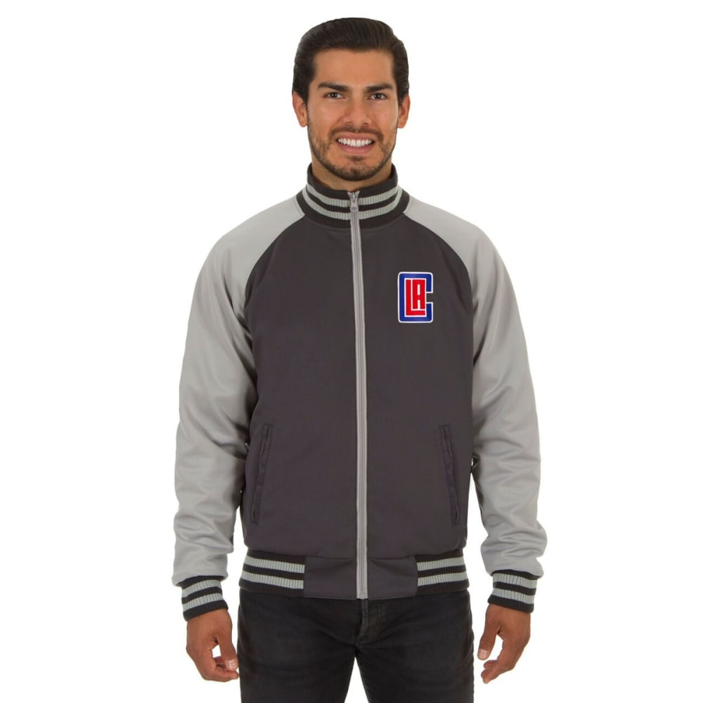 LOS ANGELES CLIPPERS Men's Reversible Embroidered Track Jacket - SLATE GRAY