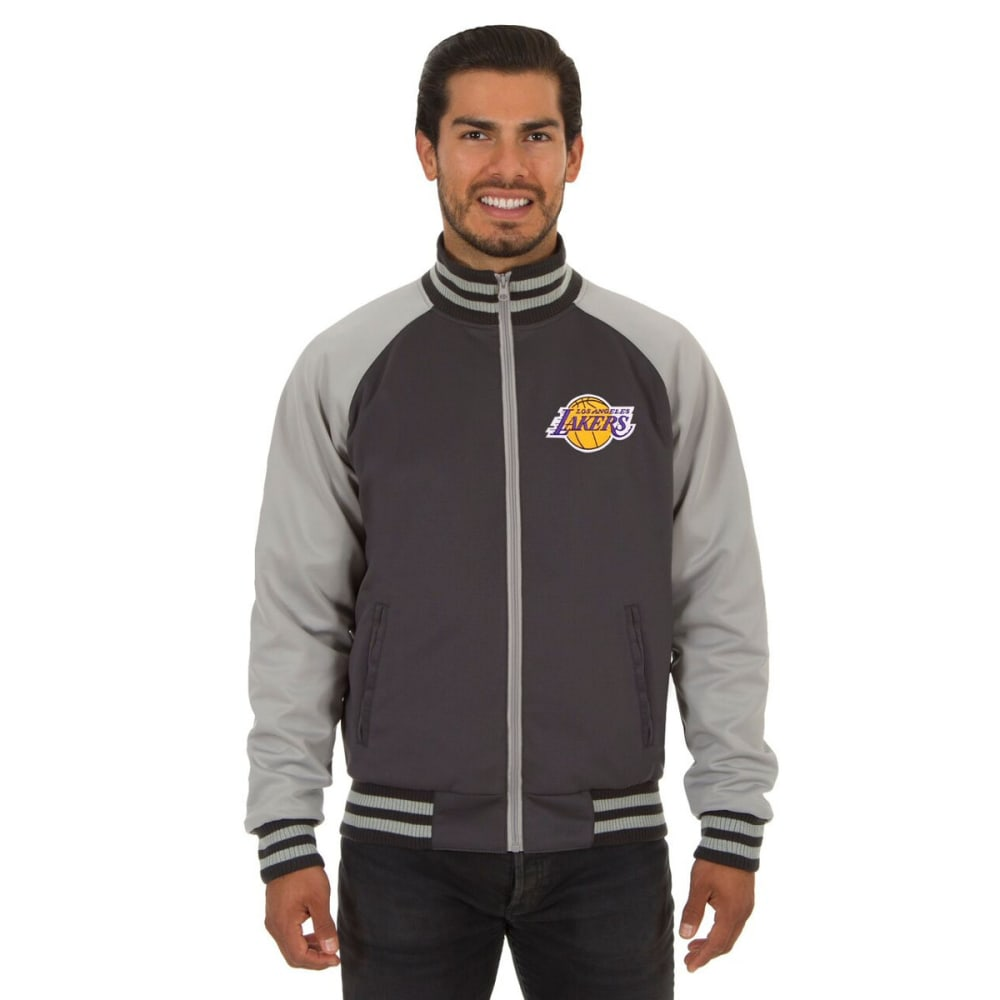 LOS ANGELES LAKERS Men's Reversible Embroidered Track Jacket - SLATE GRAY