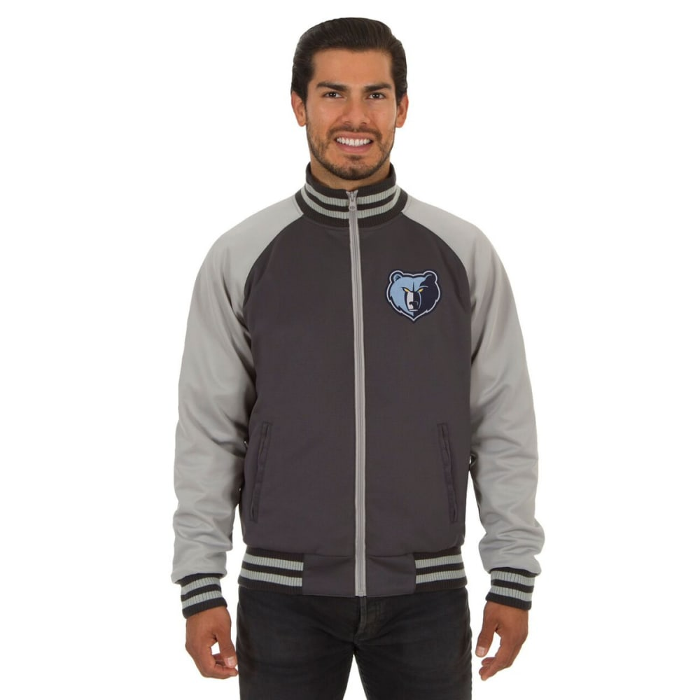 MEMPHIS GRIZZLIES Men's Reversible Embroidered Track Jacket - SLATE GRAY