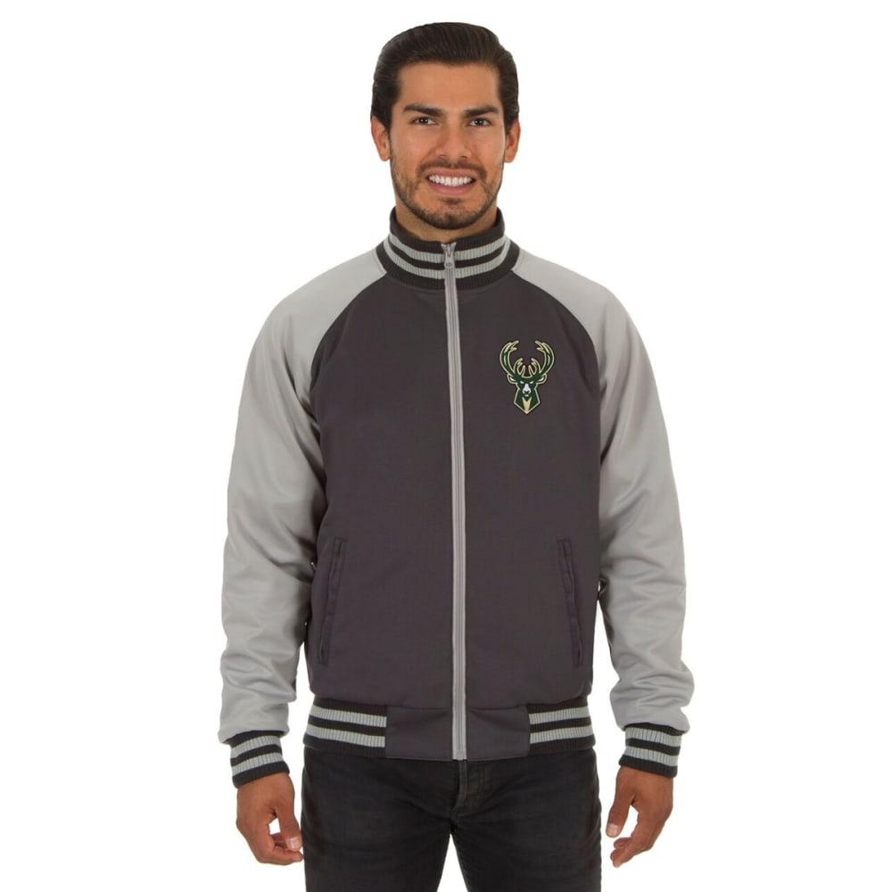 MILWAUKEE BUCKS Men's Reversible Embroidered Track Jacket - SLATE GRAY