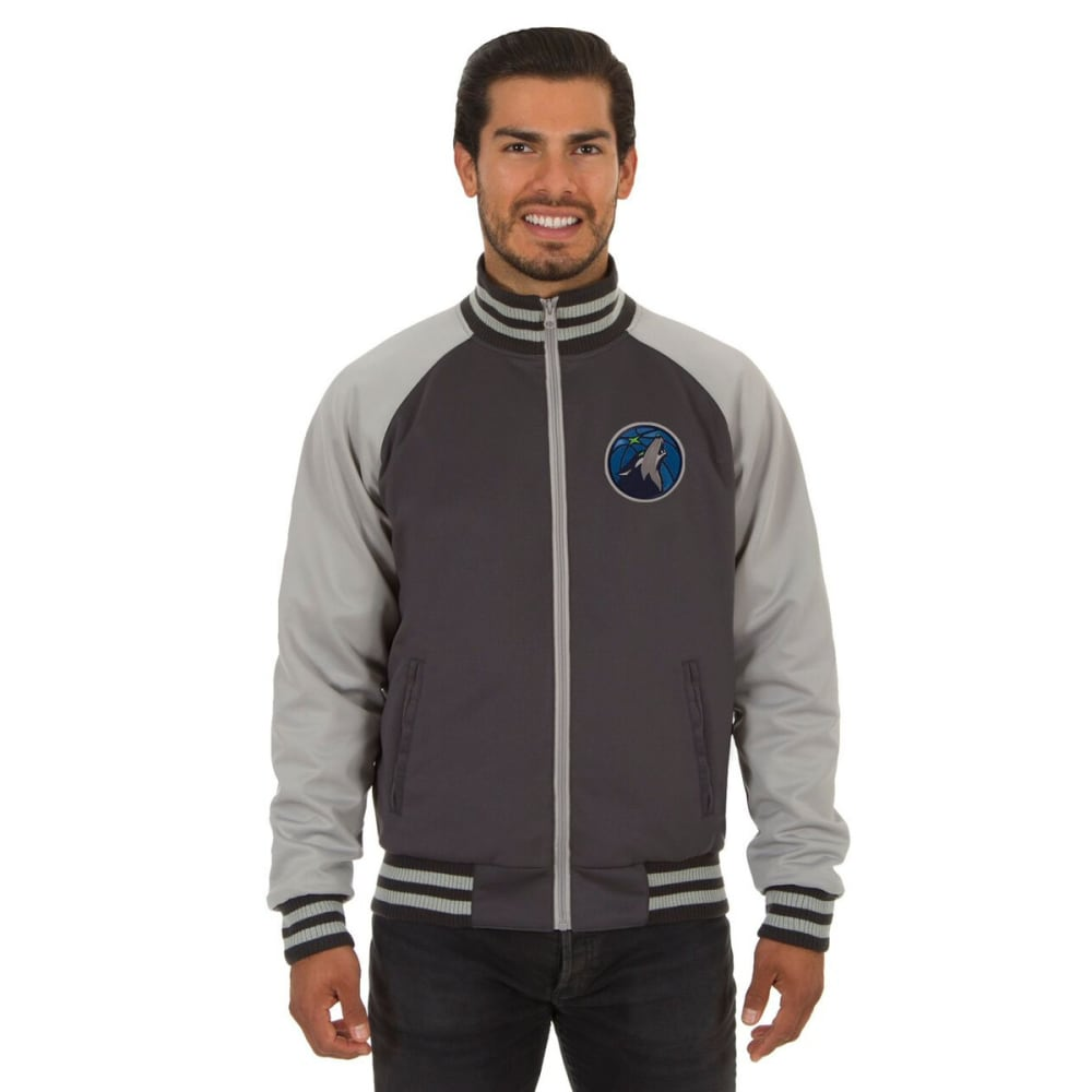 MINNESOTA TIMBERWOLVES Men's Reversible Embroidered Track Jacket - SLATE GRAY