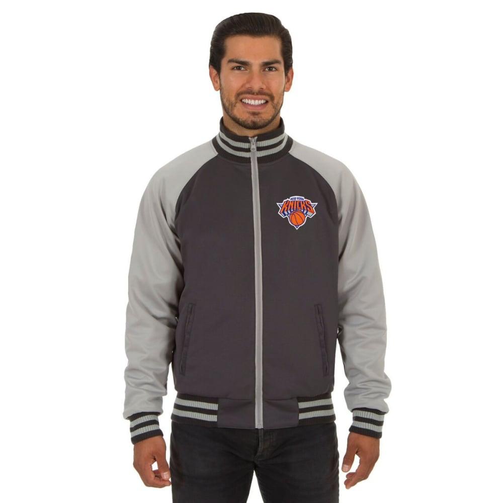 NEW YORK KNICKS Men's Reversible Embroidered Track Jacket - SLATE GRAY