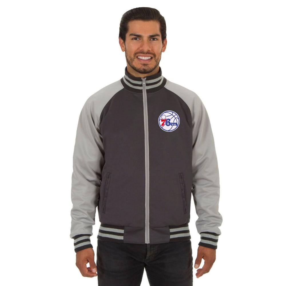 PHILADELPHIA 76ERS Men's Reversible Embroidered Track Jacket - SLATE GRAY