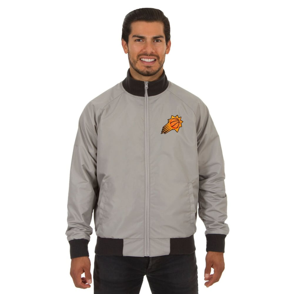 PHOENIX SUNS Men's Reversible Embroidered Track Jacket - SLATE GRAY