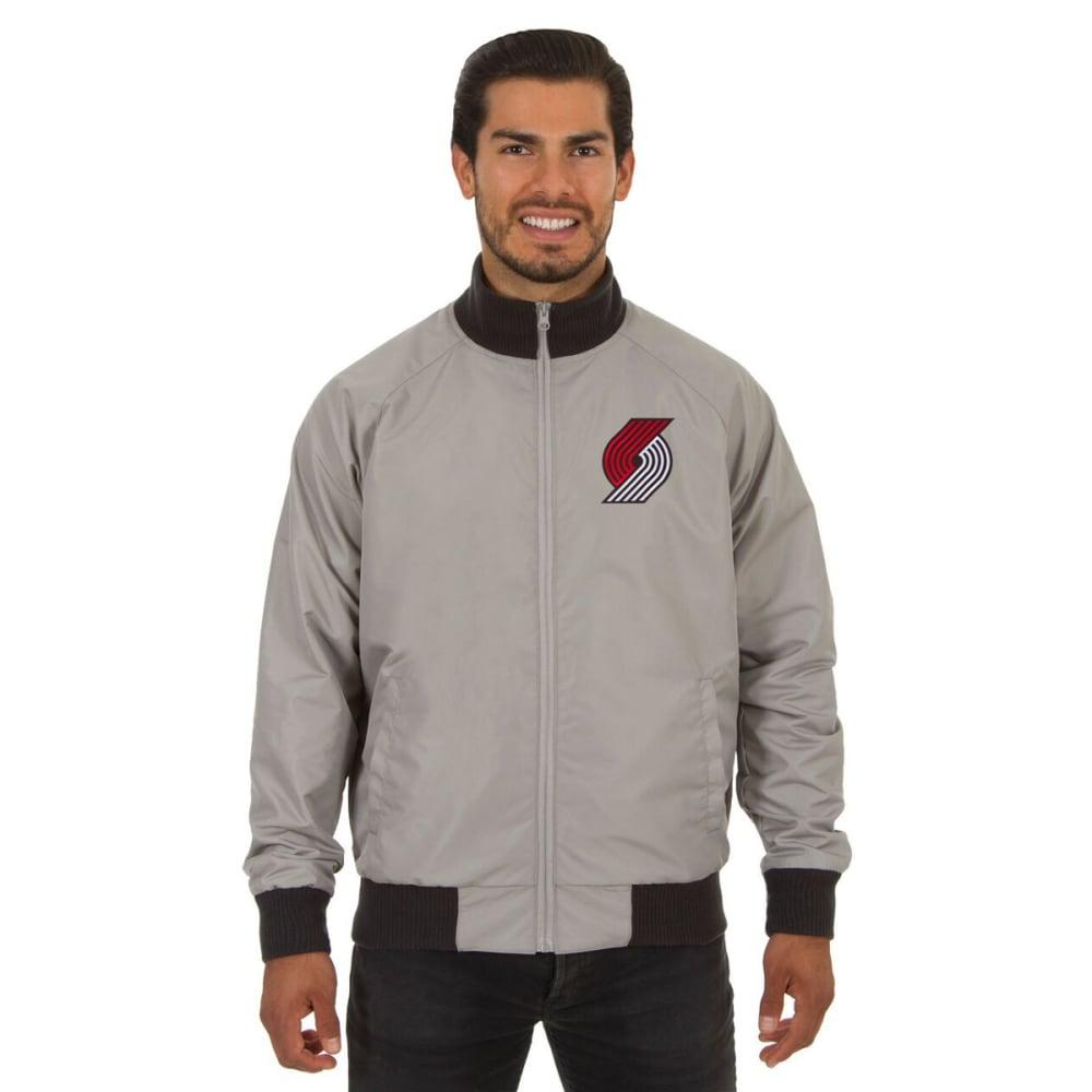 PORTLAND TRAILBLAZERS Men's Reversible Embroidered Track Jacket - SLATE GRAY