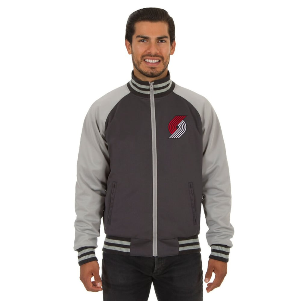 PORTLAND TRAILBLAZERS Men's Reversible Embroidered Track Jacket - SLATE GRAY