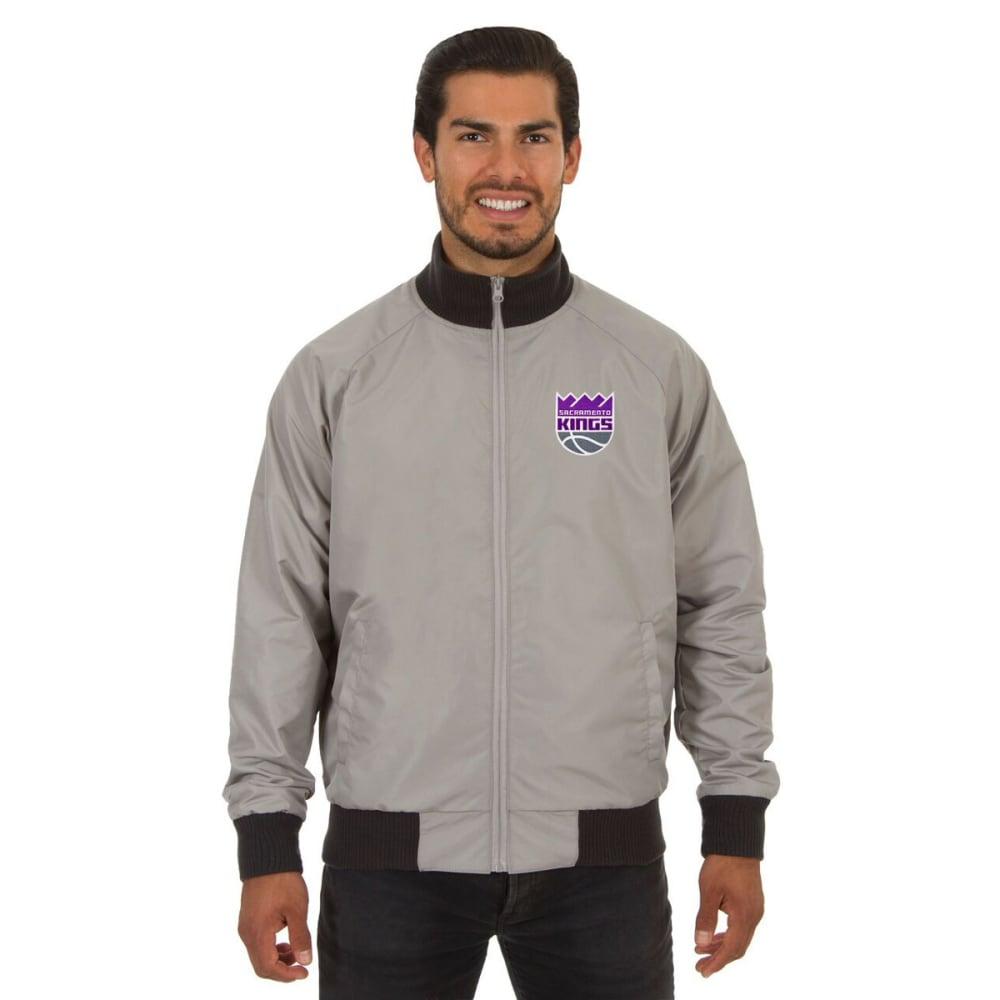 SACRAMENTO KINGS Men's Reversible Embroidered Track Jacket - SLATE GRAY