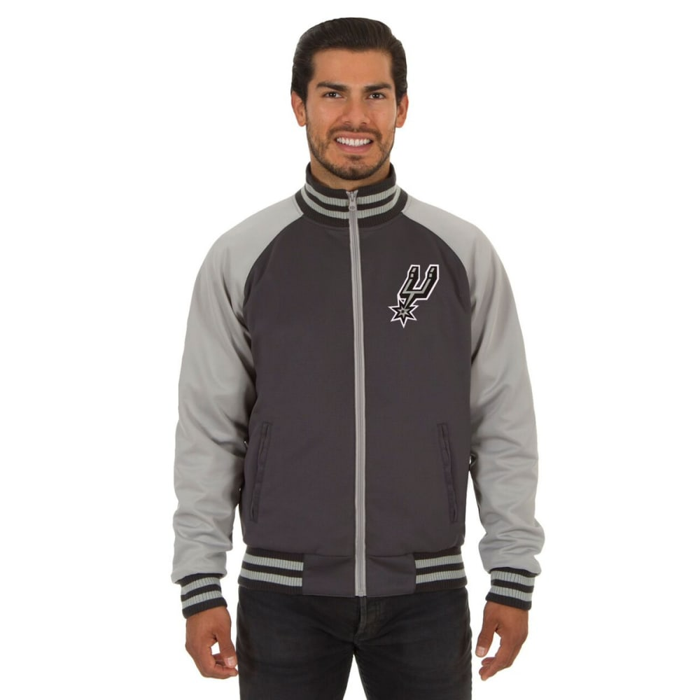 SAN ANTONIO SPURS Men's Reversible Embroidered Track Jacket - SLATE GRAY