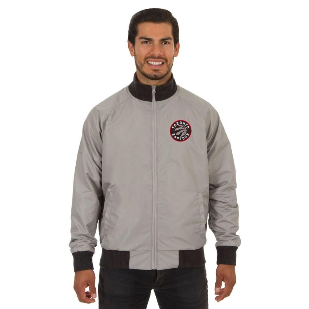 TORONTO RAPTORS Men's Reversible Embroidered Track Jacket - SLATE GRAY