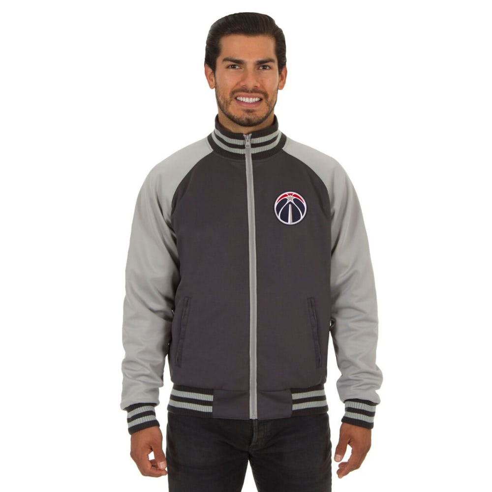 WASHINGTON WIZARDS Men's Reversible Embroidered Track Jacket - SLATE GRAY
