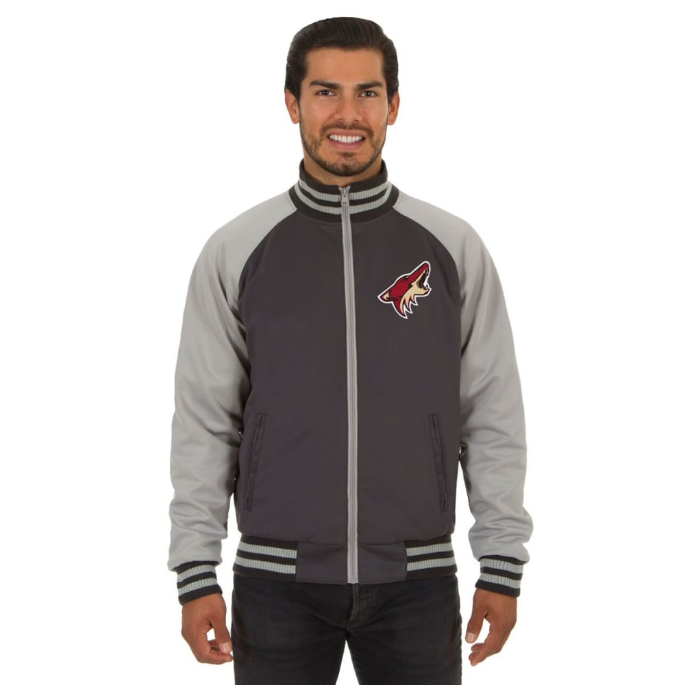 ARIZONA COYOTES Men's Reversible Embroidered Track Jacket - SLATE GRAY