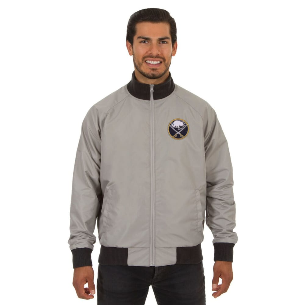BUFFALO SABRES Men's Reversible Embroidered Track Jacket - SLATE GRAY