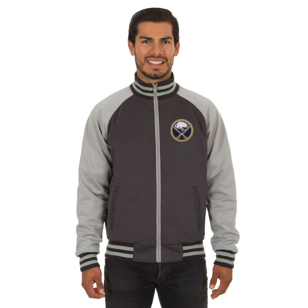 BUFFALO SABRES Men's Reversible Embroidered Track Jacket - SLATE GRAY