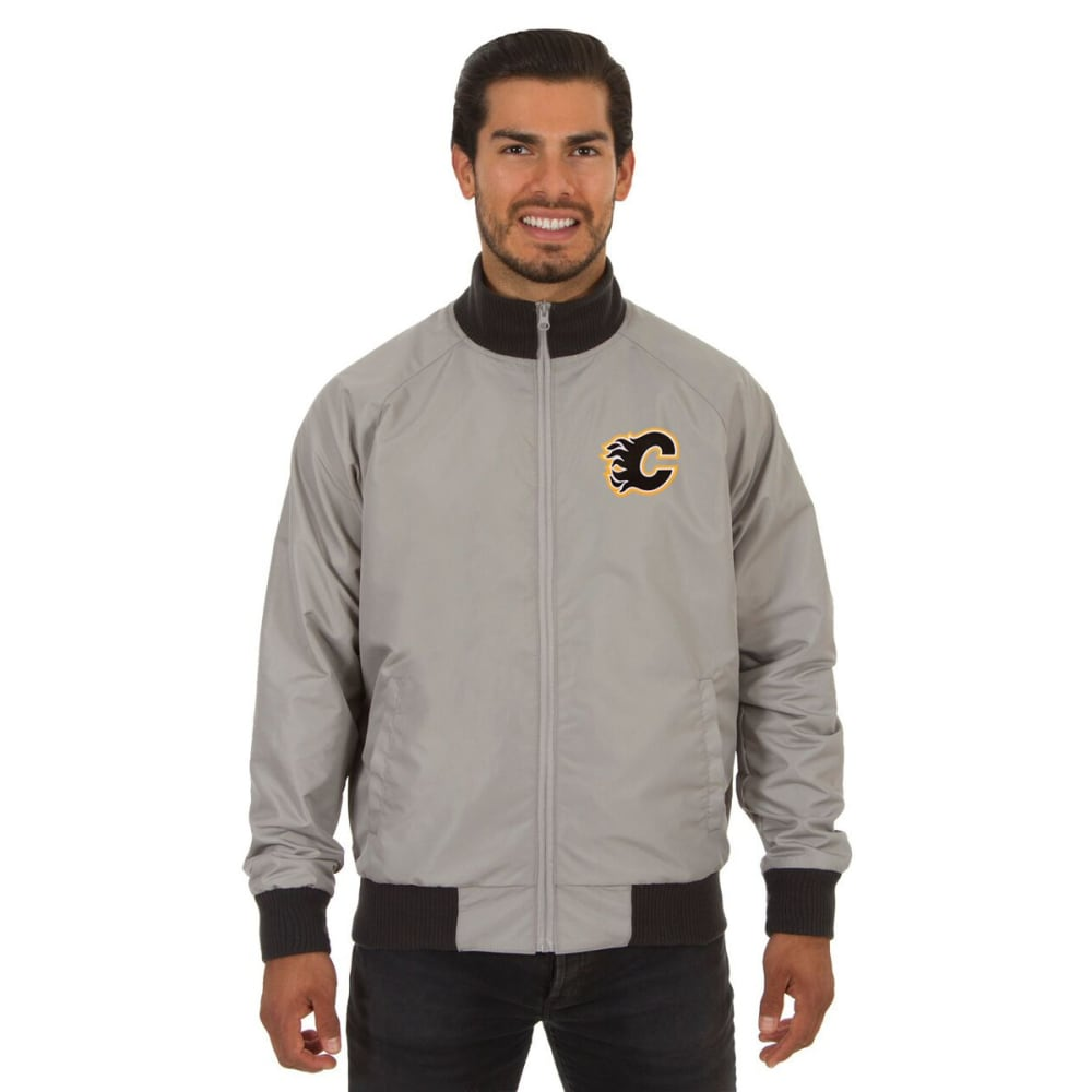 CALGARY FLAMES Men's Reversible Embroidered Track Jacket - SLATE GRAY