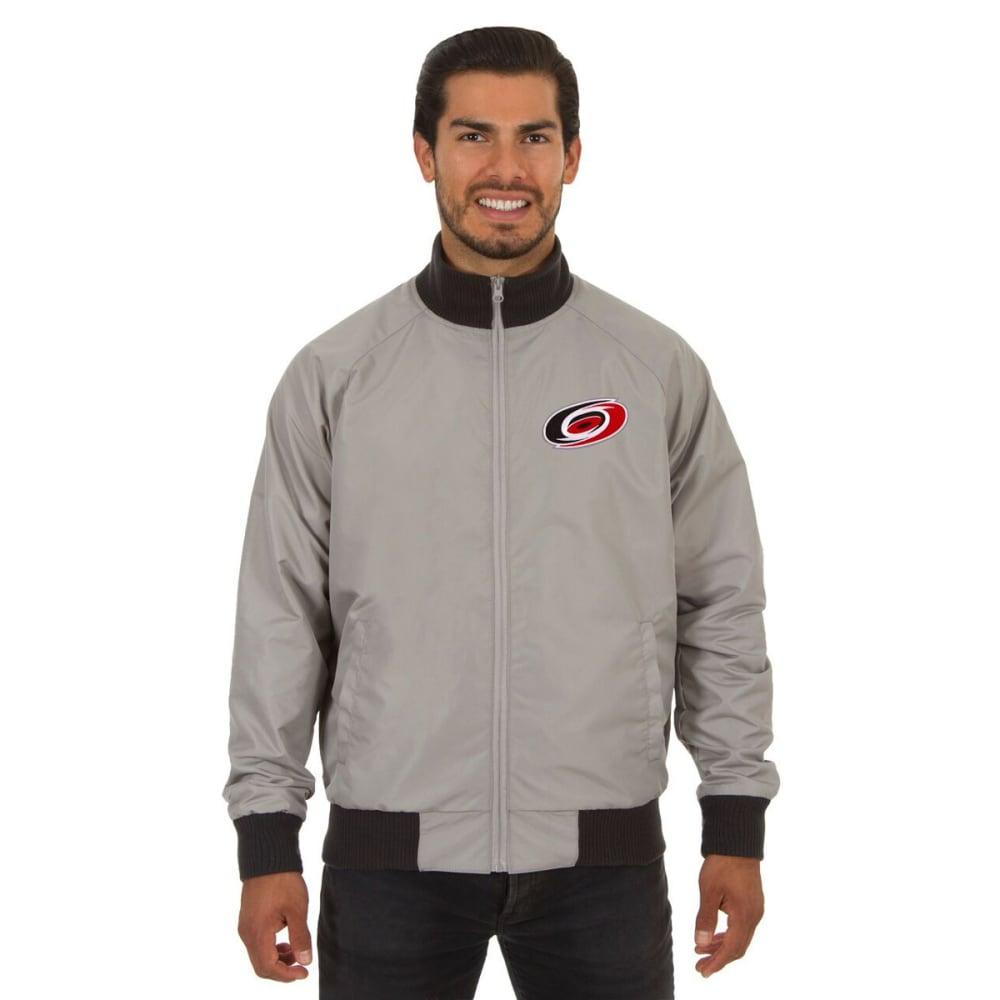 CAROLINA HURRICANES Men's Reversible Embroidered Track Jacket - SLATE GRAY