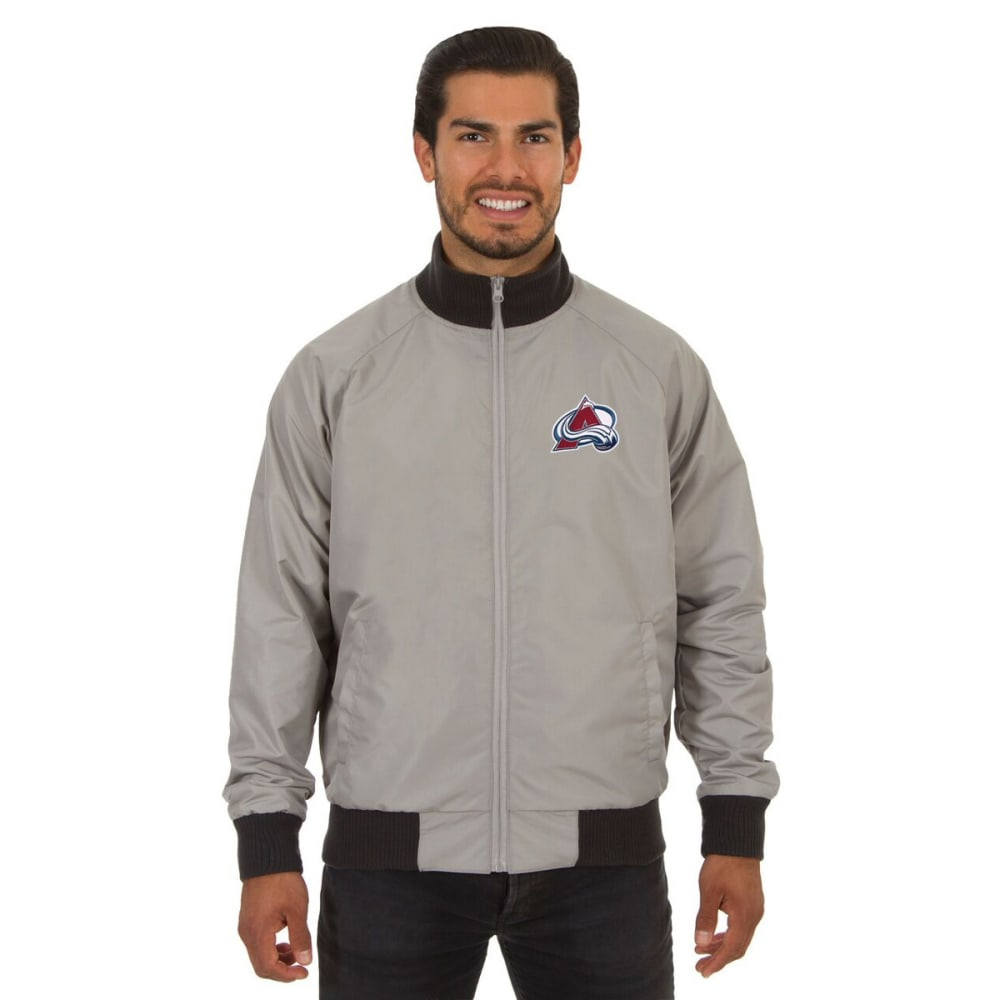 COLORADO AVALANCHE Men's Reversible Embroidered Track Jacket - SLATE GRAY