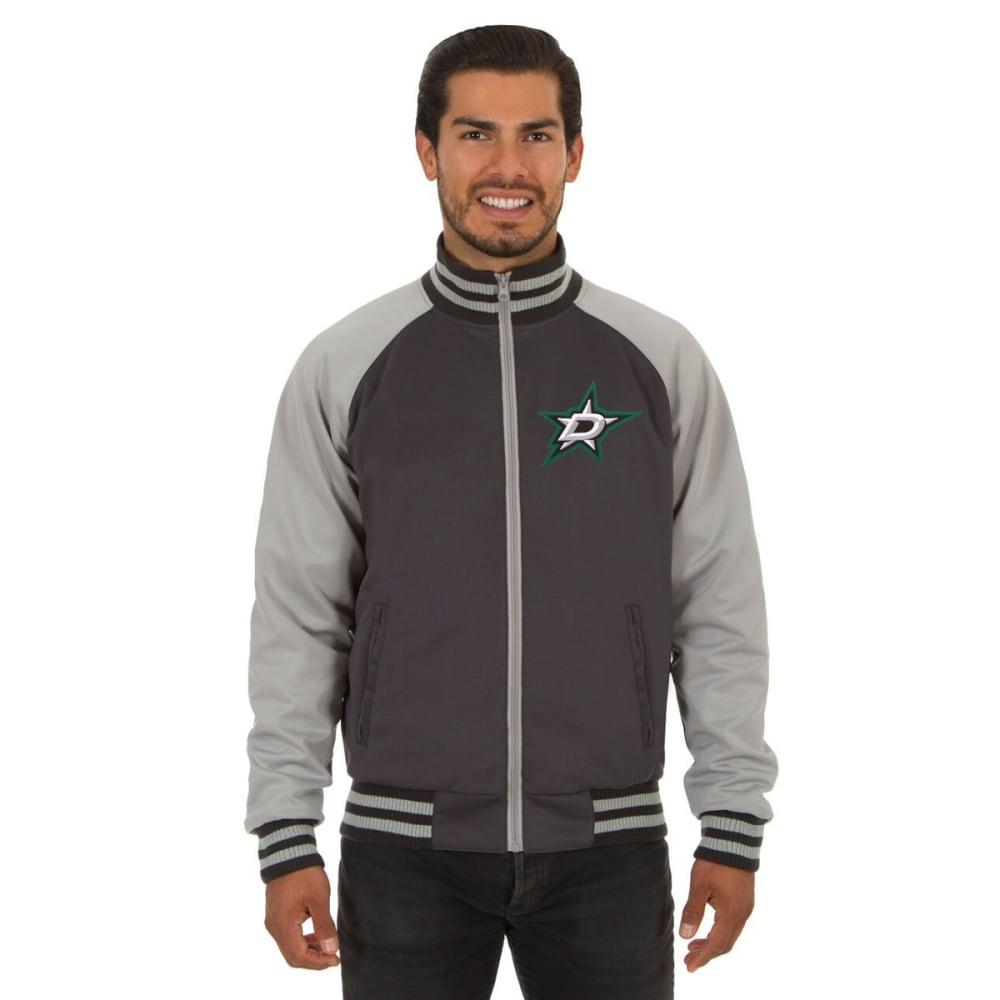 DALLAS STARS Men's Reversible Embroidered Track Jacket - SLATE GRAY