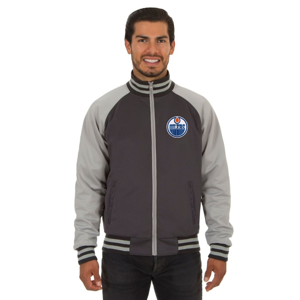 EDMONTON OILERS Men's Reversible Embroidered Track Jacket S