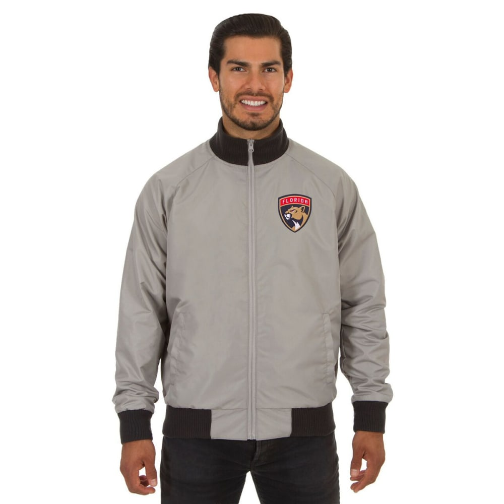 FLORIDA PANTHERS Men's Reversible Embroidered Track Jacket - SLATE GRAY