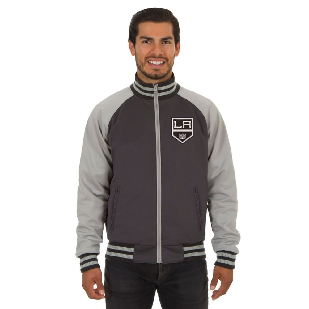 LOS ANGELES KINGS Men's Reversible Embroidered Track Jacket - SLATE GRAY