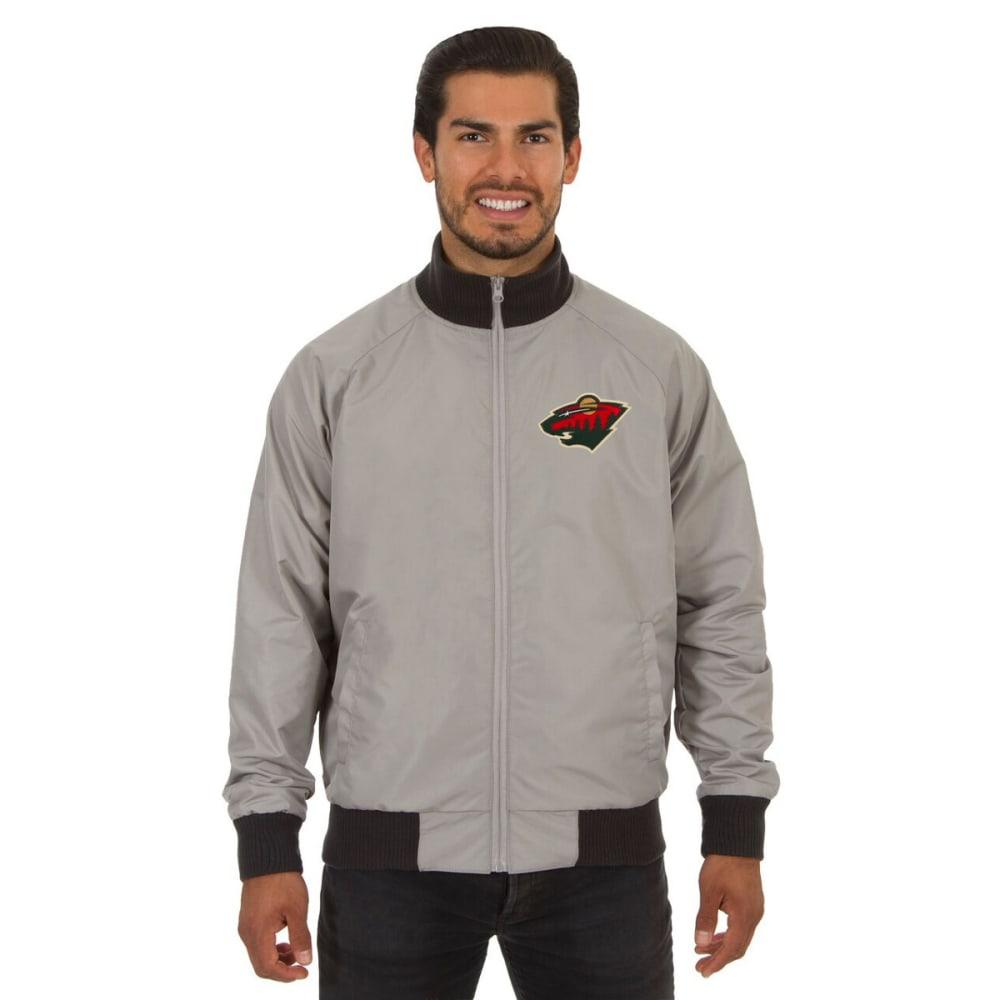 MINNESOTA WILD Men's Reversible Embroidered Track Jacket - SLATE GRAY