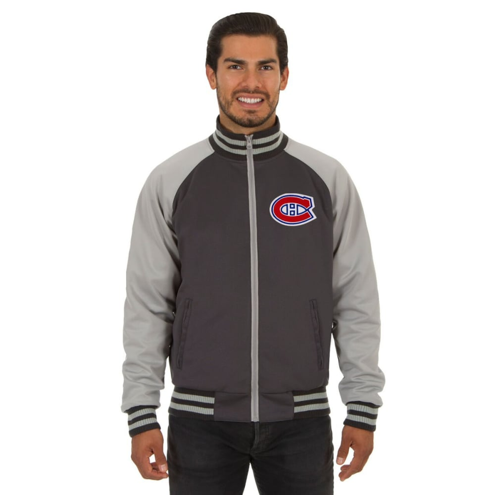 MONTREAL CANADIENS Men's Reversible Embroidered Track Jacket - SLATE GRAY